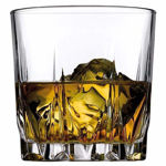 Whiskey Tumbler, Non-Lead Crystal-Clear Glass,  Cryoton (300ML) Set of 6