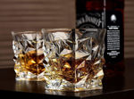 Whiskey Tumbler, Non-Lead Crystal-Clear Glass, Dimond (320 ml) Set of 6