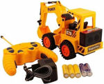 Cheetah Remote Control and LED Flash Lights JCB Plastic Truck (Yellow, Large)
