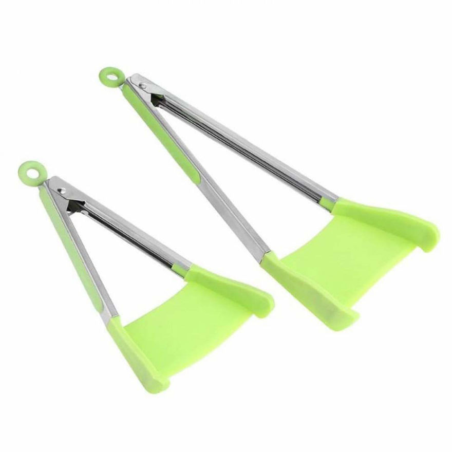 Picture of 2 in 1 Spatula Tongs Non Stick, Heat Resistant, Dishwasher Safe Spatula with Stainless Steel Frame and Silicone Tong
