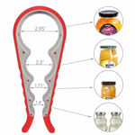 Picture of 4 in 1 Multi Purpose Multi Size Easy Grip Jar & Bottle Opener Wrench Set of 2 (Assorted Color)