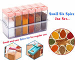 Picture of 6 pcs Jar Spice Rack | Masala Box Storage | Jar Containers for Pepper Salt | Spice Boxes | Masala Box | Masala Rack | Spice Rack for Kitchen