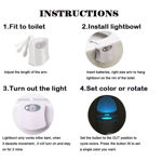 Picture of 8 Color Led Night Light with Motion Sensor Activated Glow for Toilet Bathroom Bowl (Medium, Multicolour)