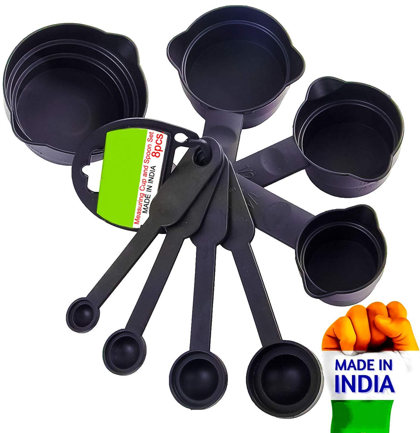 Picture of 8 Piece Measuring Cup & Spoon Set for Home and Kitchen Use