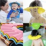 Picture of Baby's Adjustable Safe Soft Bathing Shower Cap (Assorted Color) (Set of 2)