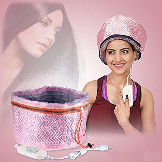 Picture of Beauty Steamer Thermal Treatment Nourishing SPA Hair Care Cap (Assorted Color)
