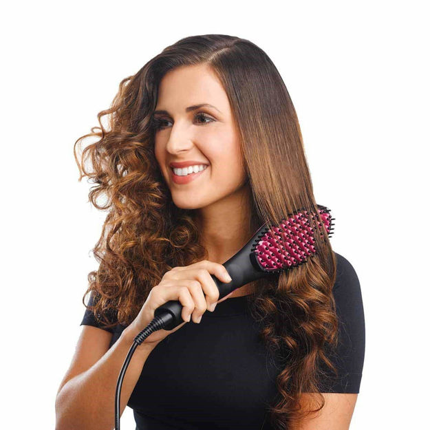 Picture of Black Hair Straightener Ceramic Brush and Style Brushes (Assorted Color)