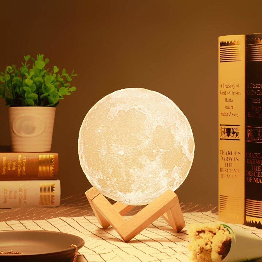 Picture of Color Changing 3D Moon Night Lamp for Home