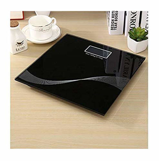 Picture of Electronic Thick Tempered Glass & LCD Display Digital Personal Bathroom Health Body Weight Machine Scales for Body Weight, Weight Scale Digital for Human Body, Weight Machine for Body Weight