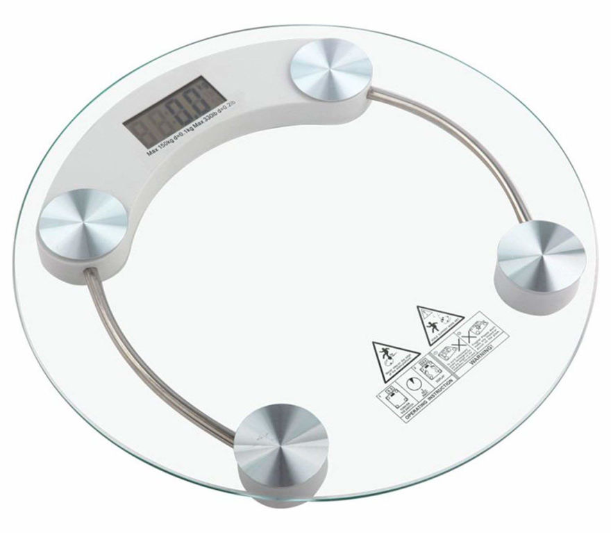 Picture of Electronic Thick Tempered Glass & LCD Display Digital Personal Weight Scales for Body Weight and Other Weight.