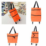 Picture of Foldable Shopping Trolley Bag for Vegetables and Grocery with Wheels (Assorted Color)
