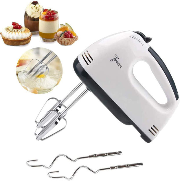 Picture of Hand Mixer with 7 Speed Control & Detachable Stainless Steel Beater & Whisker