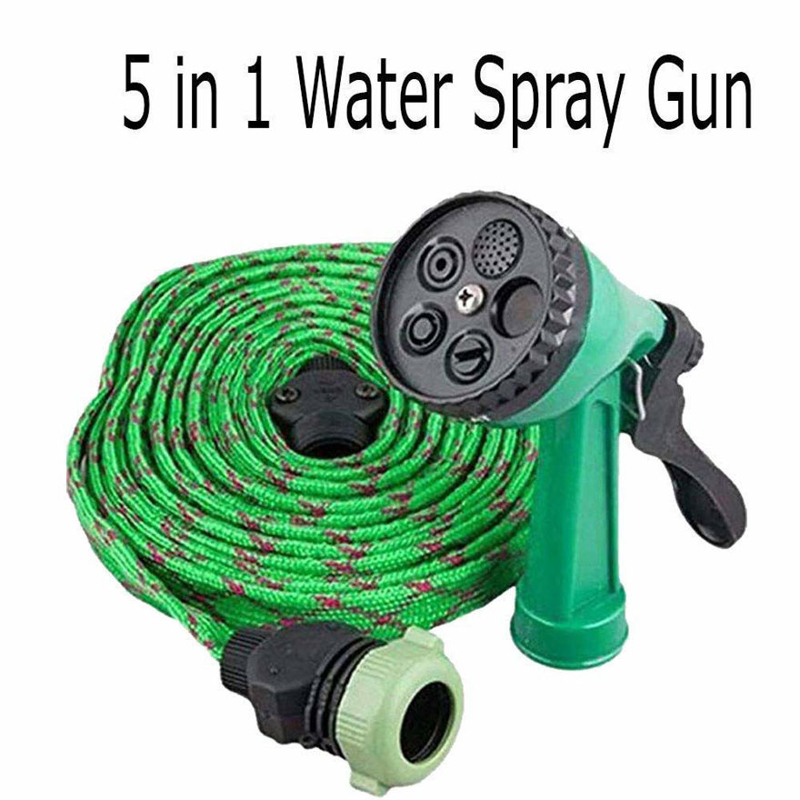 Picture of High Pressure Water Spray Hose Pipe With 5 Different Spray Modes Gun for Car Washing, Gardening and Cleaning | 5 in 1 Feature