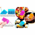 Picture of Kitchen Silicon Flat Pastry Brush Silicon Oil Cooking Brush for Grilling,Tandoor and BBQ Set of 2 (Assorted Color)