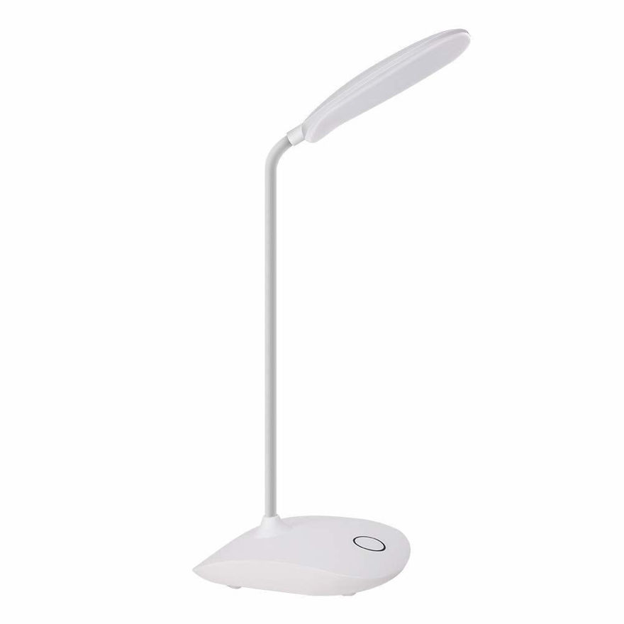 Picture of LED Desk Lamp for Study, White Dimmable Table Lamp, Eye Caring Table Lamp Night Light Touch Lamp Pen Stand Reading Lamp