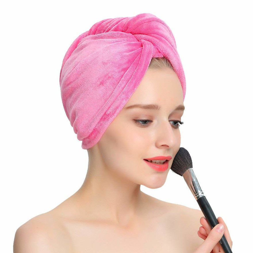 Picture of Microfiber Quick Hair Drying Head Wrap Towel for Women   Random Color