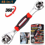 Picture of Multi Function Socket Wrench, 48 Tools in One with 360 Degree Rotating Head, Tiger Wrench Works with Spline Bolts, 6 Point, 12 Point, and Any Size Standard or Metric
