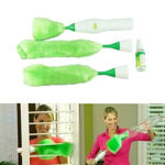 Picture of Cleaning Brush with 2 Mini Heads and Surface Spray Bottle for Home & Kitchen Use (Green)