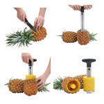 Picture of Pineapple Cutter Stainless Steel Fruit Cutters for Home & Kitchen with Sharp Blade for Diced Fruit Ring