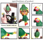 Electronic Singing Flapping Parrot Cum Pen Holder Musical Bird Toy for Home Decor, Heartful Bird Toy, Acting as Lovely as a Real Birdie, Little Shakes its Head, Wings and Tail