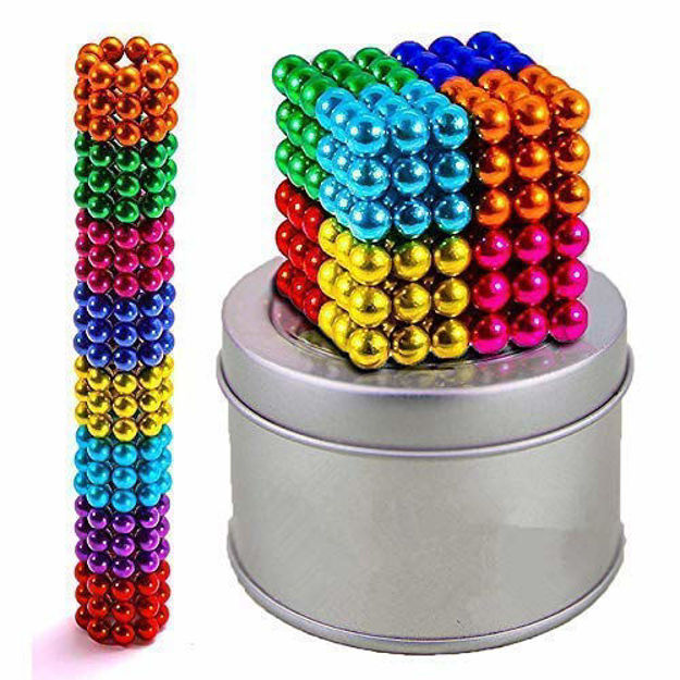multi-colored balls for kids , degree round magnetic stainless steel solid balls for kids toy , 216 pcs- Multi color