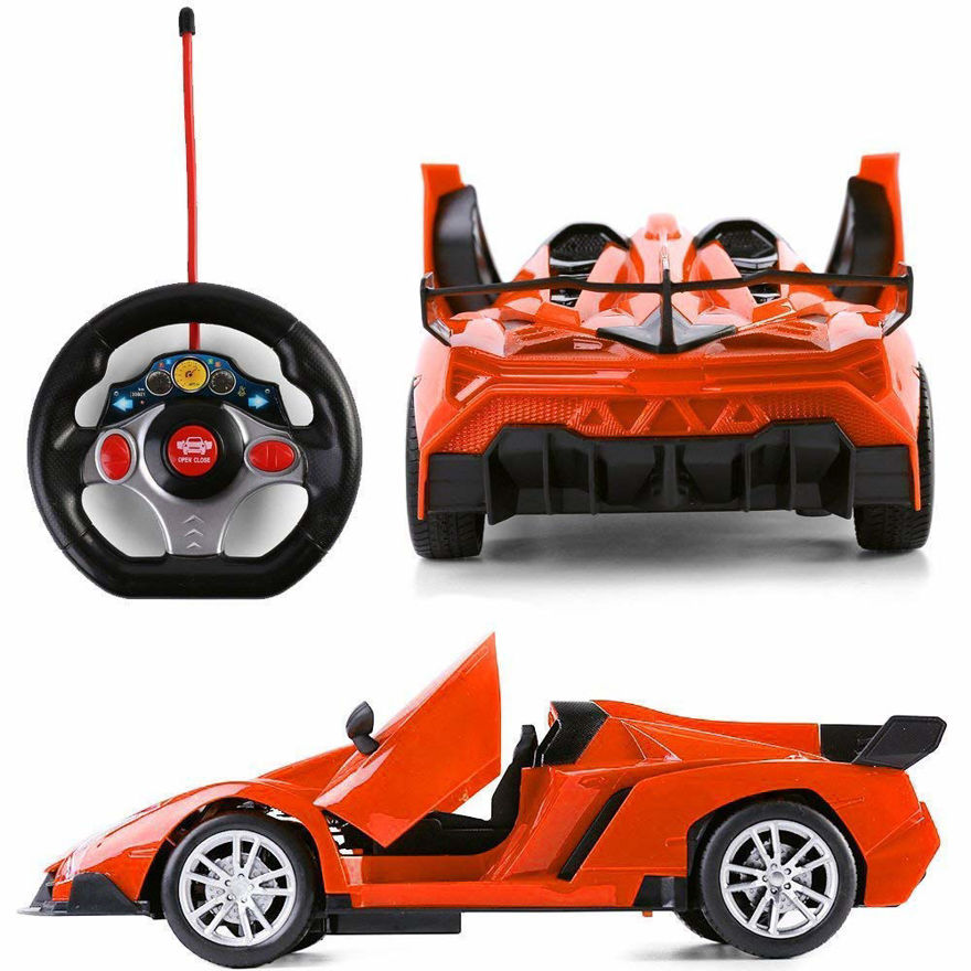 Winner Racing 3rd Edition - Open and Closeable Doors, Sports Huracan Style, Lights & Shock Absorber Radio Control Car (Sometimes Color May Vary as Per The Stocks)