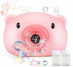 Bubble Machine Camera, Portable Bubble Maker for Kids Bubble Blower Machine with 2 Bubble Solutions Bubble Blower Toy for Childs, Girls, Boys