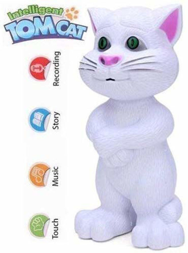 Intelligent Touching Talking Tom Cat with Wonderful Voice Recording, Musical Toys, Talk Back First hot Toy for Kids (Multi Color)