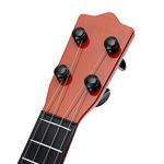 4-string guitar toy for kids with adjustable tuning knobs for intellectual development & musical ability, random color small size-Brown