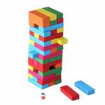51 piece wooden building block