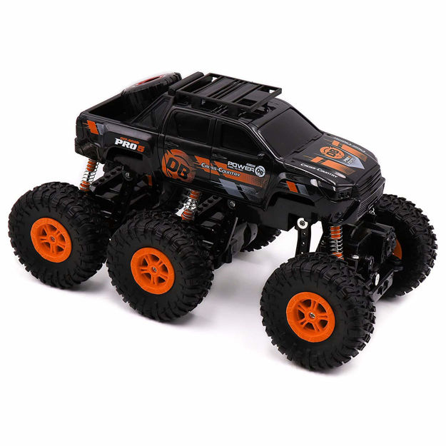 1:18 Scale Remote Control Rock Crawler (4WD) – Off Road Monster Truck Remote Control 4x4 - RC Car, Water Proof Car- Best for Playing Climbing Games and High Speed Racing (Blue/ Red)