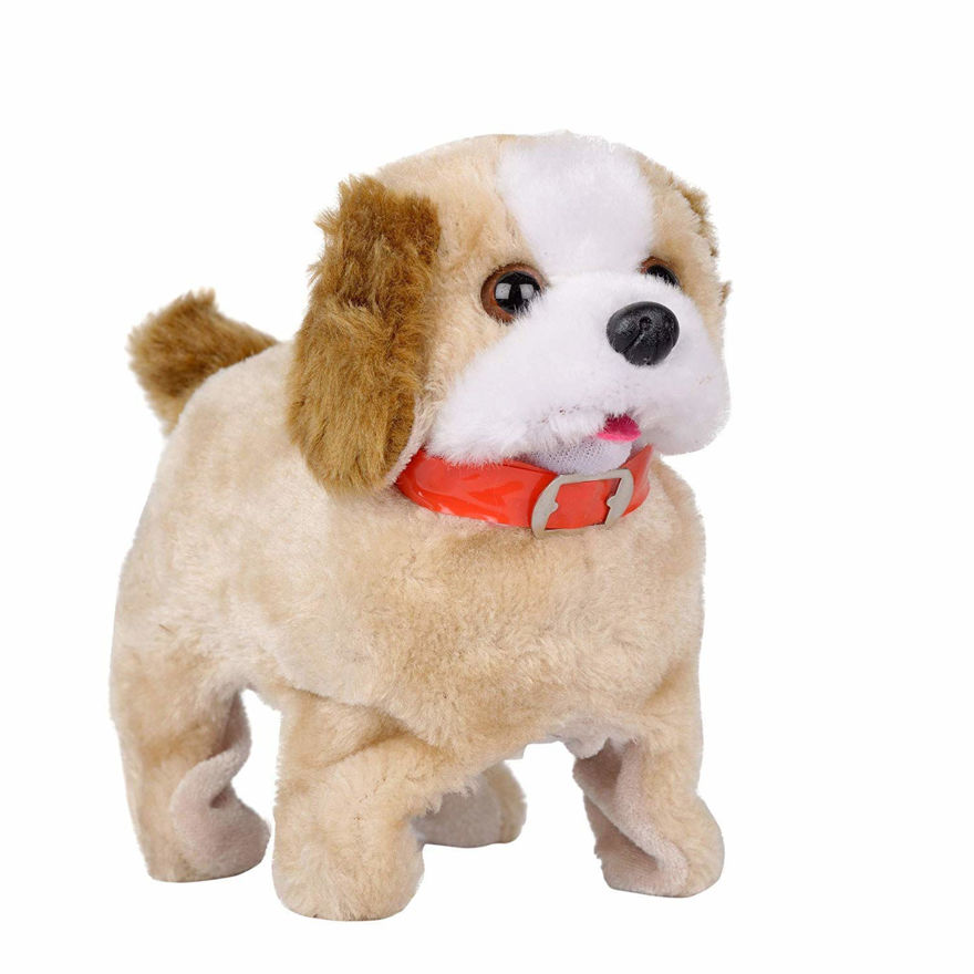 Hight Barking, Waging Tail, Walking and Jumping Puppy, Battery Operated Back Flip Jumping Dog with Sound and Music Best Gift for Toddlers and Kids