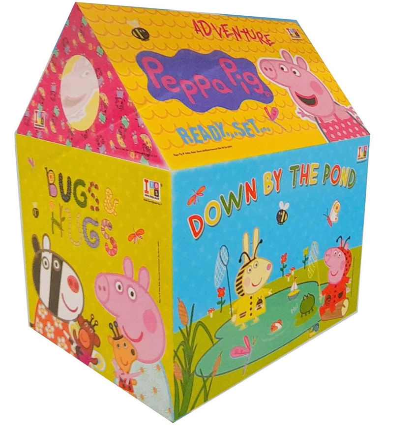 jumbo size extremely light weight kids play tent house for 10 year old girls and boys (peppa pig tent)-Multi color