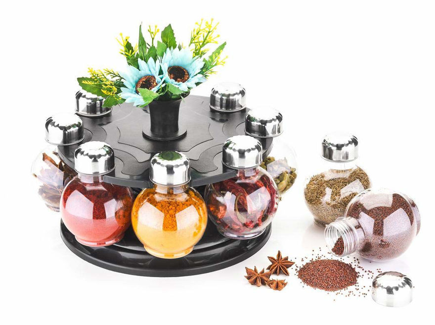 Picture of 360° Spice Rack,Kitchen Rack,Masala Storage,Container 8 Pieces