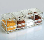 Picture of 4 Pcs Salt and Spice Masala Storage Box for Kitchen