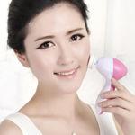 Picture of 5 in 1 Skin Massager for Face, Neck, Shoulder, Back   Multi Function Face Massager (Pink)