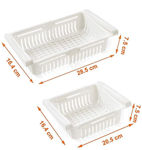 Picture of Adjustable and Expandable Plastic Fridge Storage Food Organizer Tray (2)