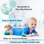 Picture of Baby's Cotton Crawling Anti Slip Knee Pads (Free Size) (Assorted Color)