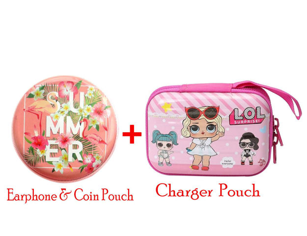 Picture of Earphone & Charger Storing Pouch for All Smart Phones(multi design)