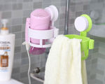 Picture of Hair Dryer Holder Rack with Vacuum Suction Cup, Wall Mount Round Hair Dryer Stand for Bathroom Organizer (Assorted Color)