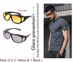 Picture of HDVision Anti Glare Sunglasses Wrap Around Day & Night Driving (Pack Of 2)