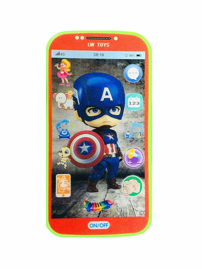 Toys Digital Mobile Phone with Touch Screen Feature, Amazing Sound and Light Toy (AVENGERS)  (Red)