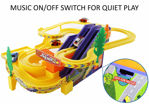 Track Racer Toy Game Car Racing Ramp Set with Rotating Helicopter Battery Operated and Musical for Games Kids  (Multicolor, Pack of: 1)