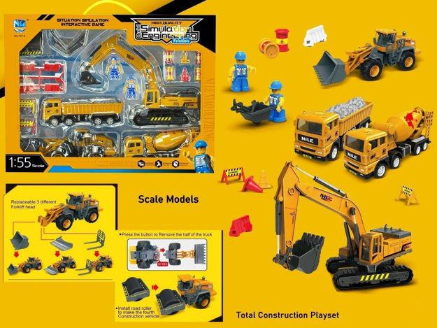 Unbreakable Engineering Automobile Construction Car Toys Set for Children Kids Crane Excavator Road Roller Forklift Mixer Truck Transporter Truck Machine Construction Toys