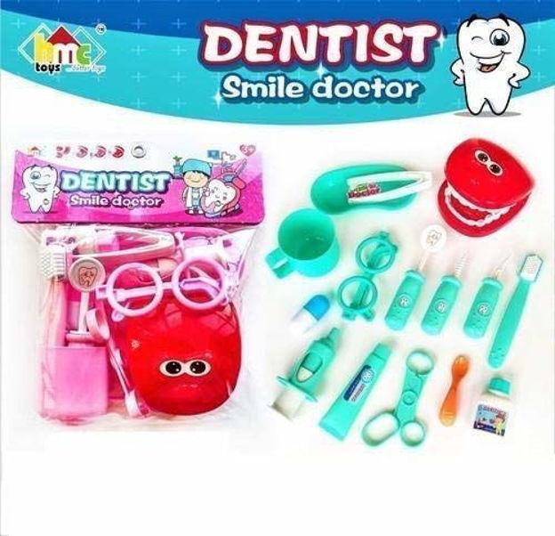 15 Pcs Dentist Doctor Play Set Pretend Play Toys Medical Kit for Toddler Boys Girls - Blue