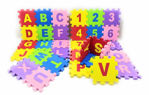 36 pcs Alphanumeric Non-Toxic EVA Foam, Interlocking Puzzle with ABCD and 0-9 Numbers Set, Mini Size Play Toy Mat for Kids (4 x 4 inch)