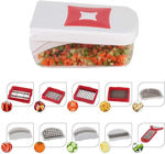 Picture of Multipurpose Vegetable and Fruit Chopper Cutter Grater Slicer (Red)