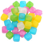 Picture of Pack of 20 Square Reusable Ice Cubes | Filled with Pure Water (Assorted Color)