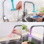 Picture of Plastic Adjustable Tap Extender Water Saving Faucet for Kitchen (Medium, Multi Color)
