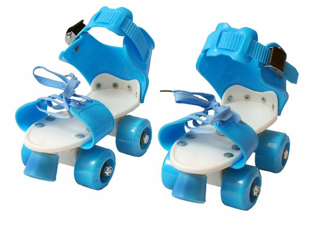Ajustable inline dry skates shoes/skating shoes for kids with front brake kids roller skates shoes (age group 5-10 years) color may very- Multi color